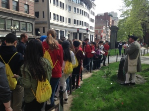 On the Freedom Trail with Jeremiah Poope.